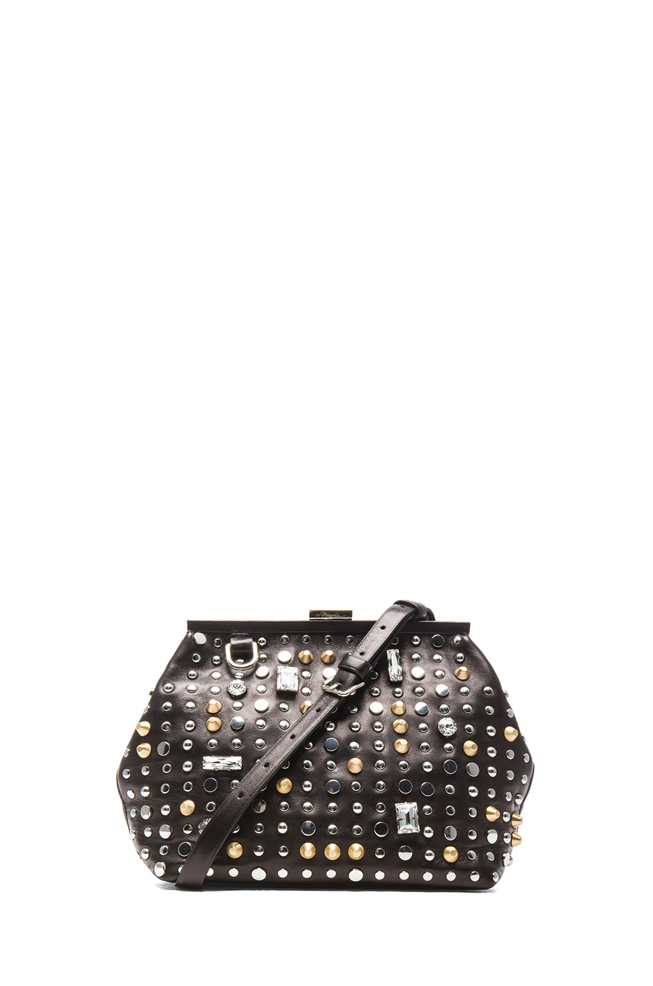 3.1 phillip lim|Frame Clutch in Black