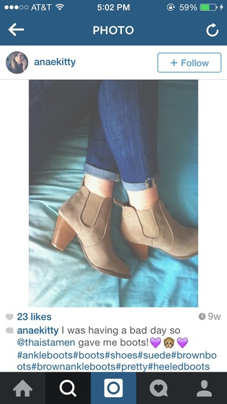 shoes ankle boots wooden heel