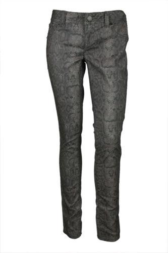 Inc International Concepts Womens Gray Skinny Snake Print Jeans 2 $80 New   eBay