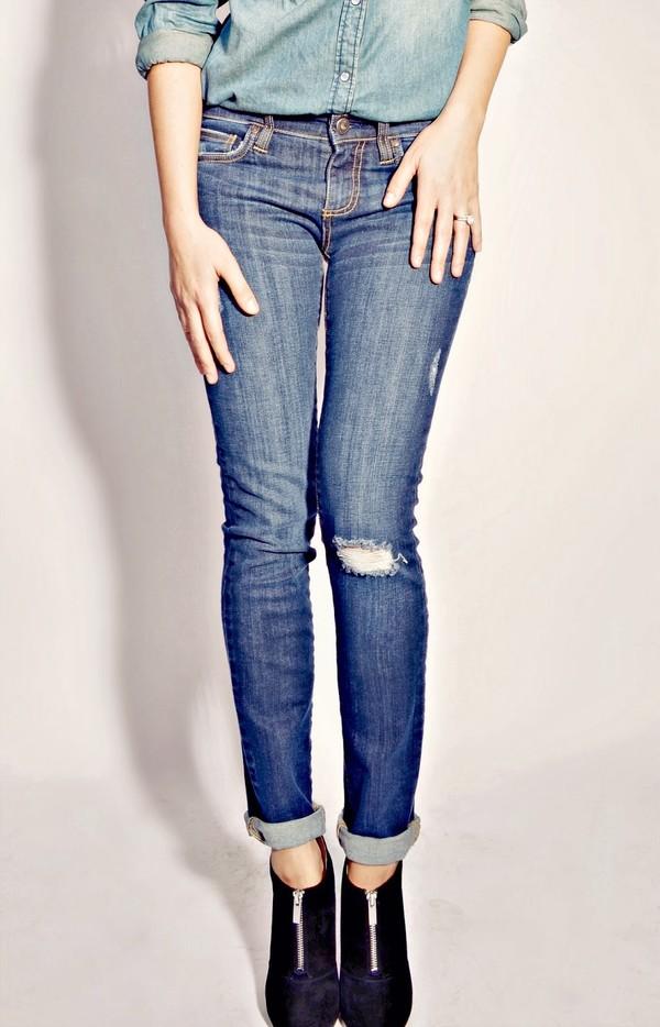 quality rivets shirt jeans shoes