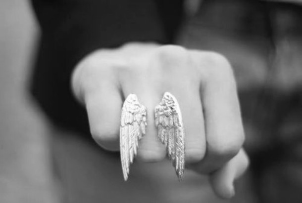 jewels ring ring wings wing angel wings silver ring silver wings angel wing