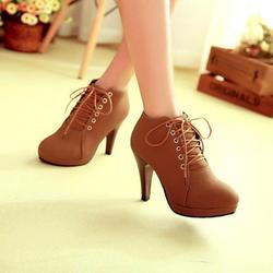 Brown suede high heel - TheFind