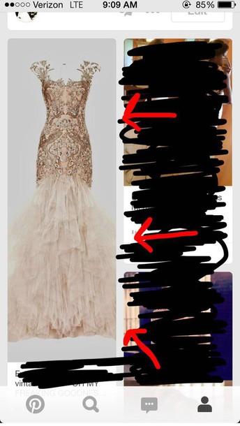 dress vintage dress prom dress prom gown mermaid prom dress prom dress gold dress white dress