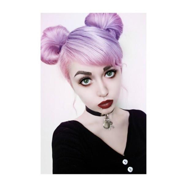 make-up grunge lipstick jewels