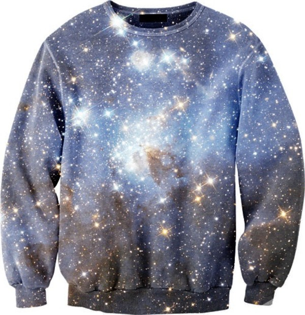 sweater galaxy print pretty