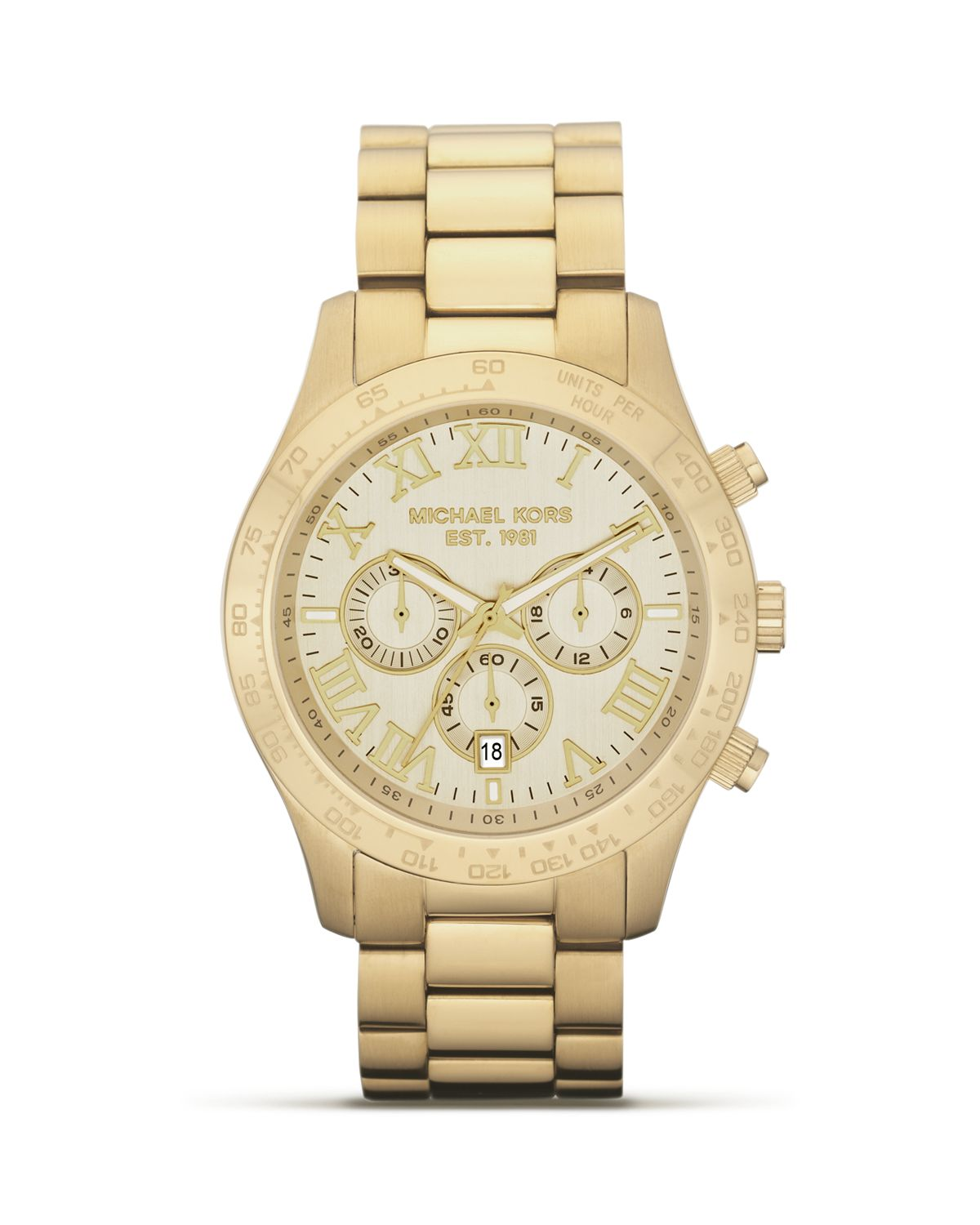 Michael Kors Men's Round Gold Watch, 45mm | Bloomingdale's