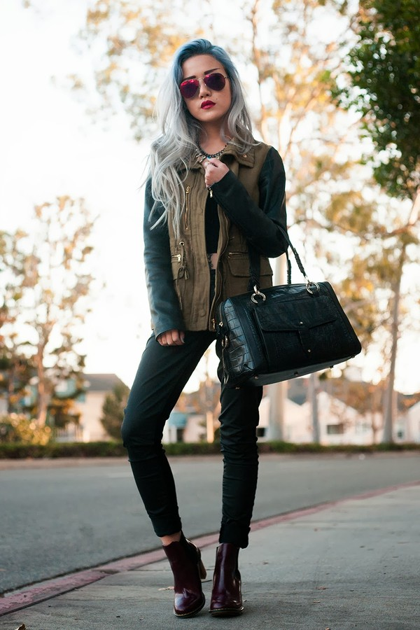 feral creature jacket t-shirt jeans bag sunglasses jewels shoes
