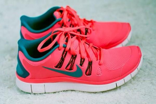shoes nike free run nike nike running shoes fluor nike free run pink