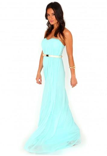 Abelone Bandeau Pleated Maxi Dress - Dresses - Maxi Dresses - Missguided