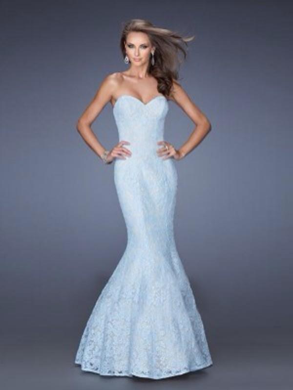 dress blue dress fishtail dress lace