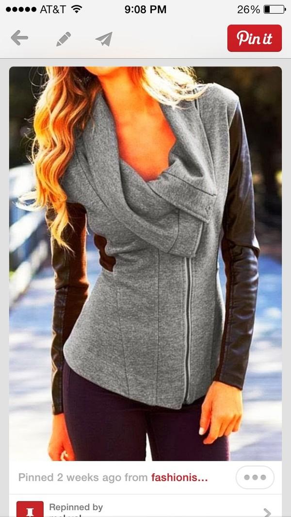 coat perfecto jacket grey