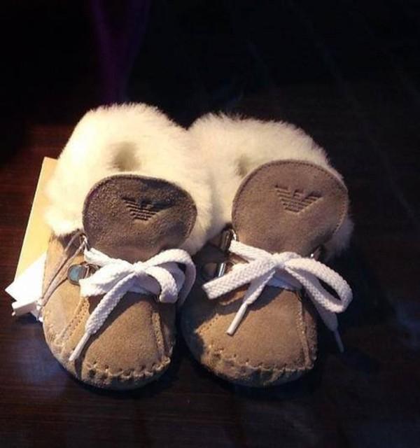 shoes armani baby giorgio armani booties fur