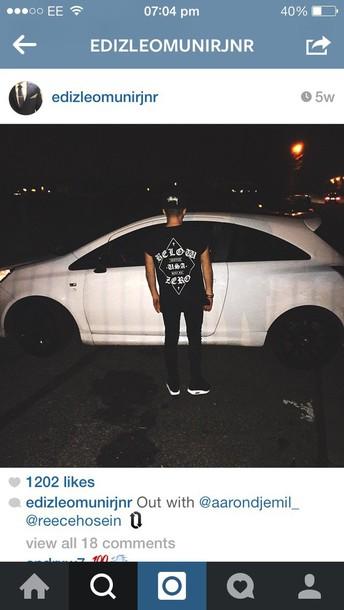 phone cover black and white top mens t-shirt urban menswear