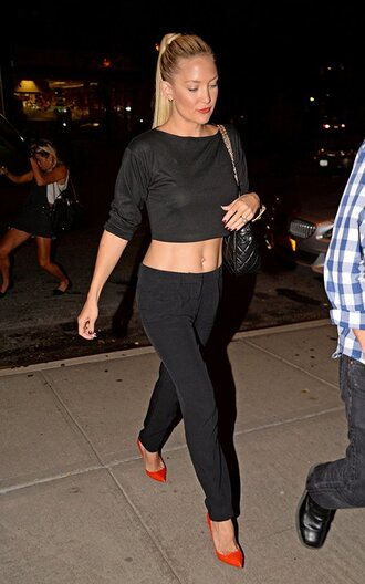 top shoes kate hudson high heels red high heels two-piece forever 21 louboutin crop tops