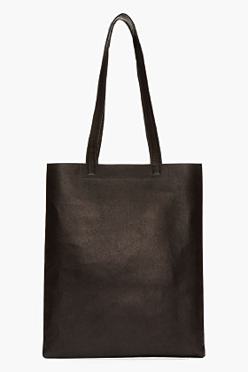 Acne Studios Black Leather Minimalist Rumor Bag for women   SSENSE