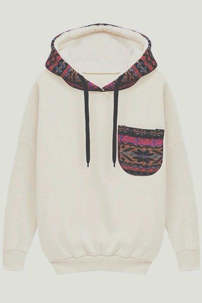 sweater cream aztec bergendy hoodie style cool winter sweater swag luxury