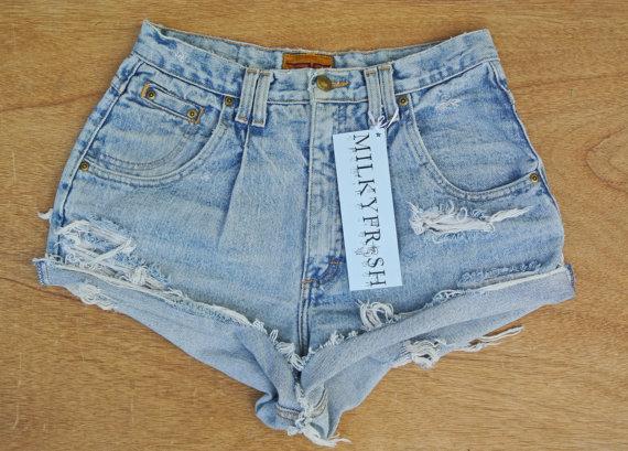 "High Waisted Shorts Size 8 Cutoffs Milky Fr3sh ""Elyse"" on Wanelo"