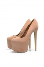 Platform Suede   Classic Heels - AX Paris