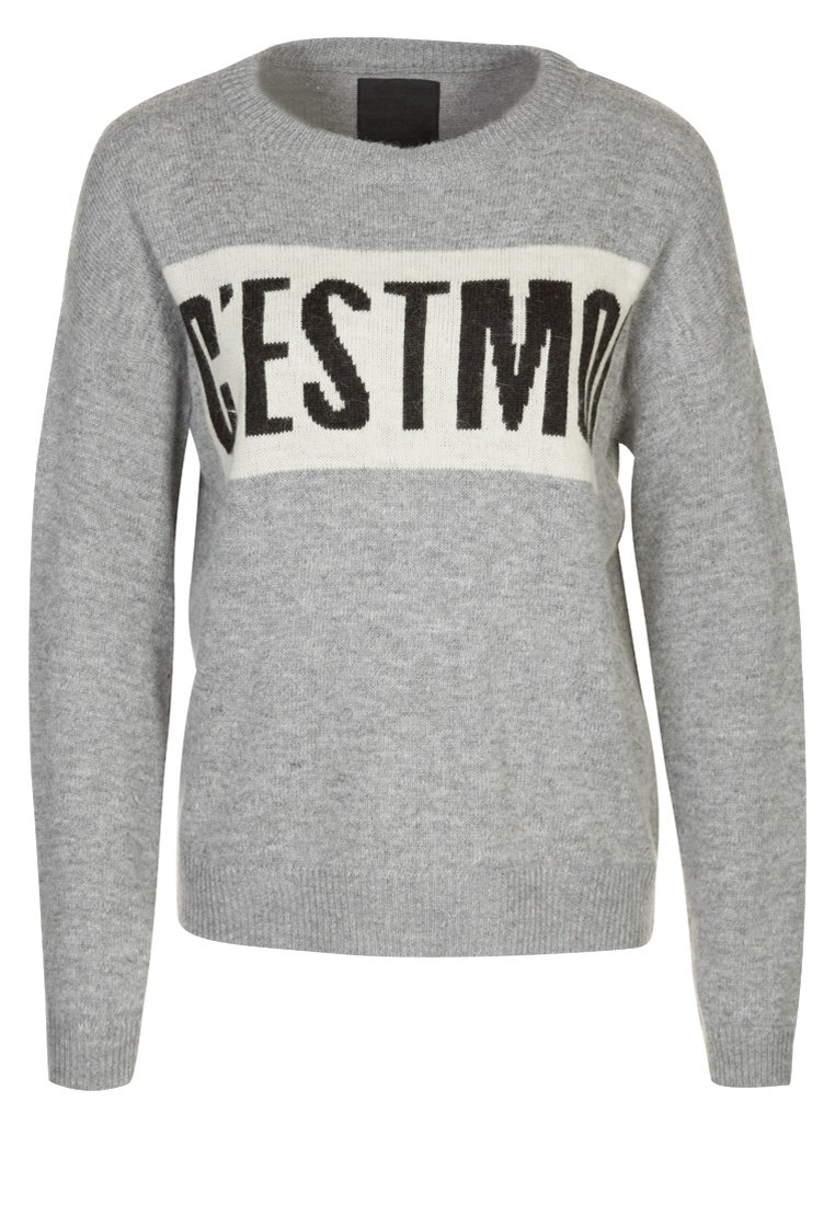 JUST FEMALE Strickpullover - grey melange - Zalando.de