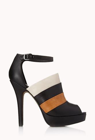 Colorblocked Peep-Toe Heels | FOREVER21 - 2000070698
