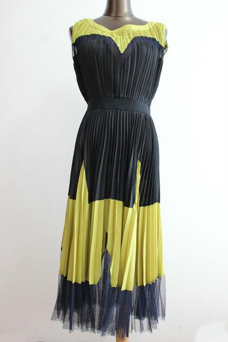 BCBG MAXAZRIA Lucea Color Blocked Dress in Black Size 2 | eBay