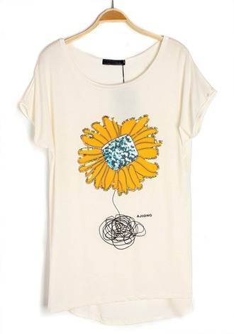 sun flower yellow shirt