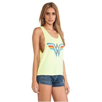 shirt wonder woman comics funny beach summer top top tank top t-shirt