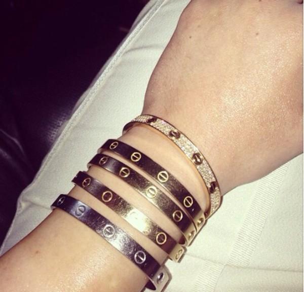 jewels bracelets rose gold silver cristaks cristals diamonds