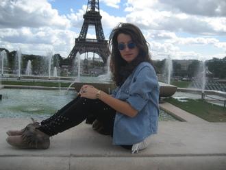 pants paris ♥ vintage andré love lunettes vintage eiffel tower