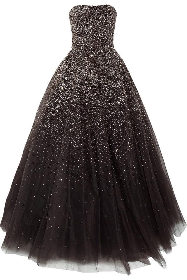 dress ball gown dress starry night