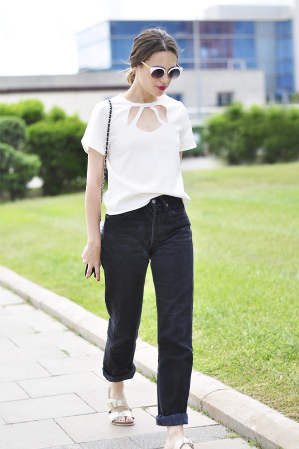 dansvogue top jeans sunglasses