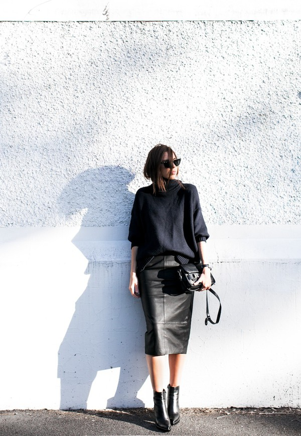 modern legacy sweater skirt shoes bag sunglasses jewels
