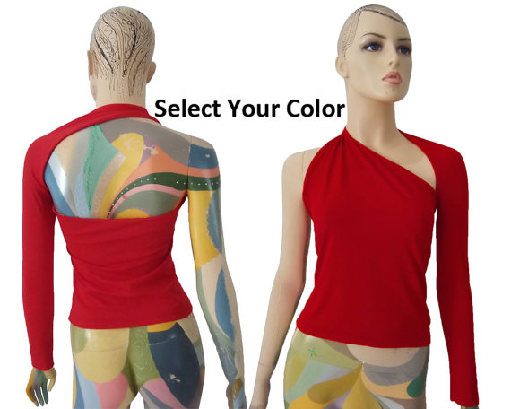 SALE 10 off Backless top Sexy red shirt Open back blouse by EKshop