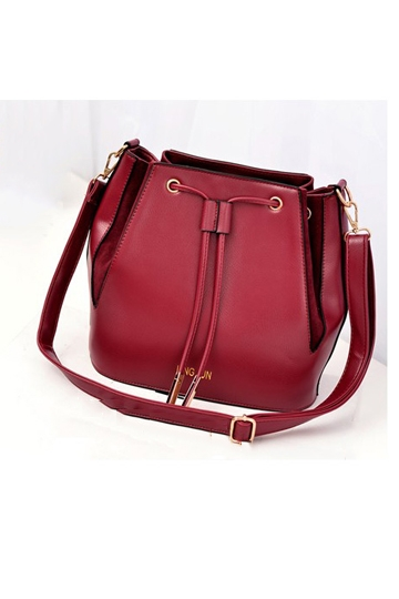 Fashion Crossbody Bag With Drawstring [FPB475] - PersunMall.com