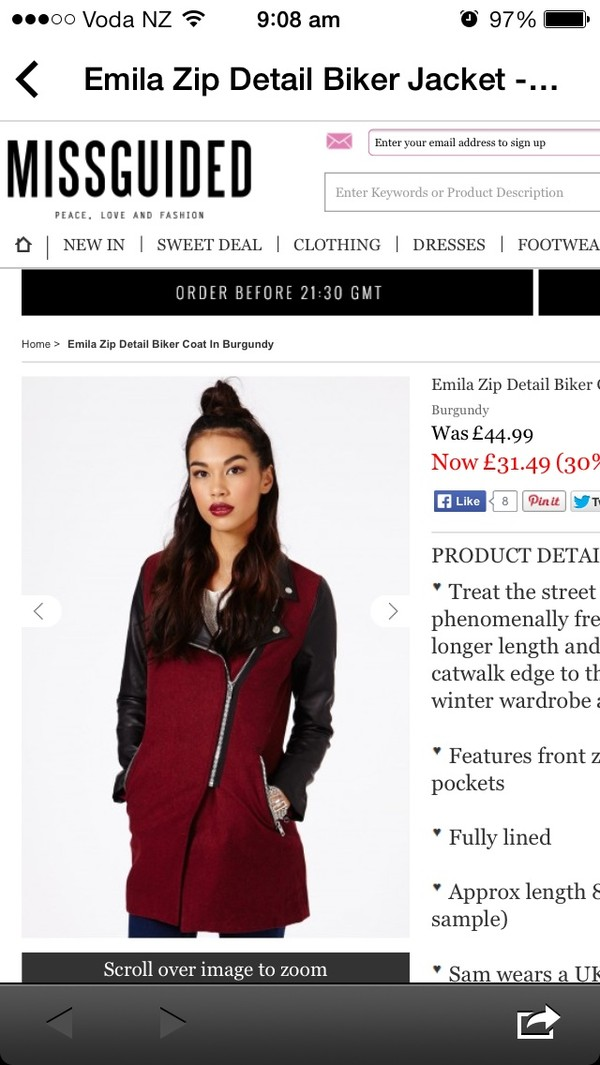 coat burgundy leather missguided jacket shewearsfashion