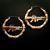 MK16 Gun Bamboo Earrings - ✰ ☮ ✝ Dollface London Online Jewellery Boutique ✝ ☮ ✰