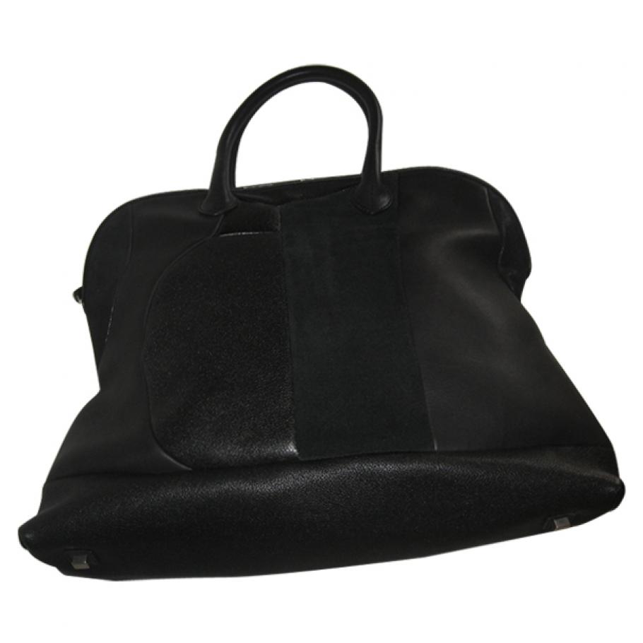 Black patchwork bowling bag CELINE Black in Leather All seasons - 469170