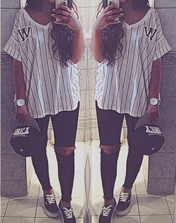 t-shirt stripe t shirt sporty t-shirt