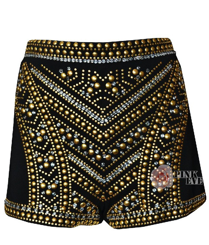 top luxury brand handcraft  geometric  embroidery beading  high waist sexy spraking shorts with spike for celebrity-inShorts from Apparel & Accessories on Aliexpress.com