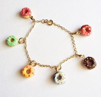 jewels donut charm gold chain #donut #jewellery #cute #bracelet