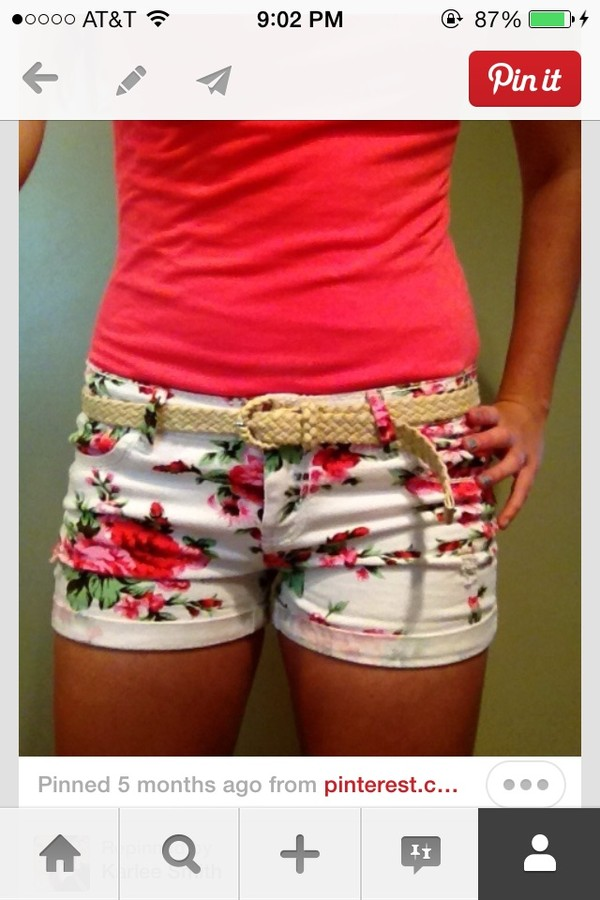 shorts floral
