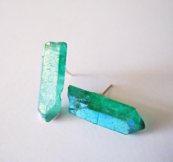 jewels earrings gems green green earrings statement