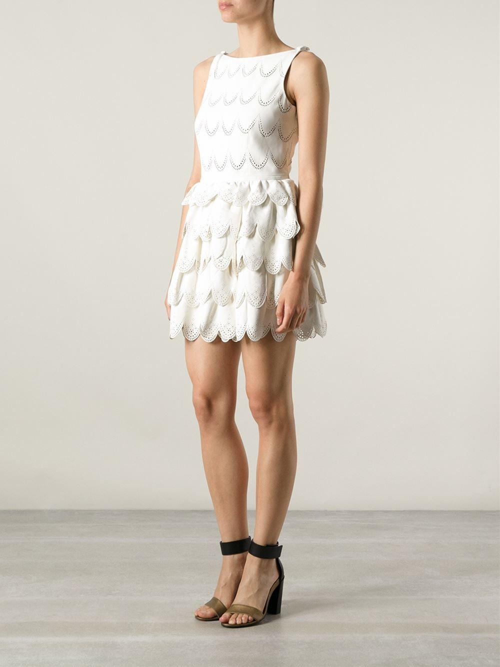 Dsquared2 Perforated Tiered Dress - Stefania Mode - Farfetch.com