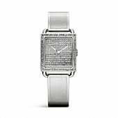Coach :: LEGACY STAINLESS STEEL PAVE BANGLE WATCH