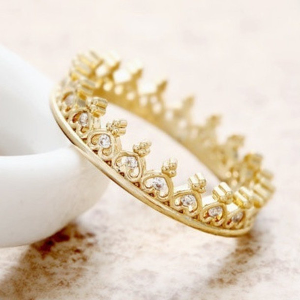 Excellent jewels, accessories, bikini luxe jewelry, crystal crown ring  RS28