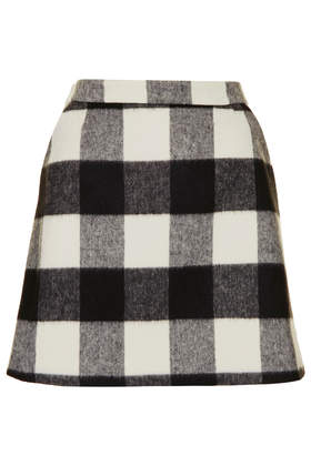 Brush Gingham Aline Skirt - Skirts  - Clothing  - Topshop USA