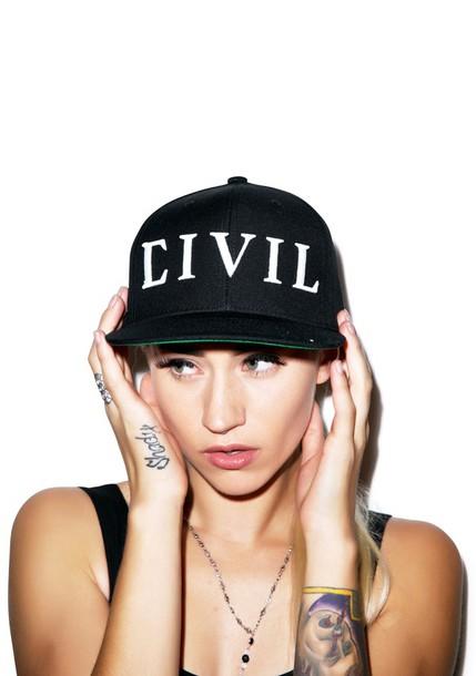 hat civil cap snapback snapback civil trap