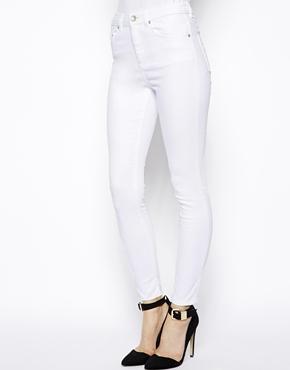 ASOS | ASOS Ridley High Waist Ultra Skinny Ankle Grazer Jeans in White at ASOS