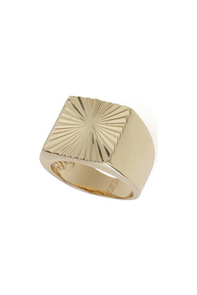 Square Signet Pinky Ring - Rings - Jewellery - Bags & Accessories- Topshop
