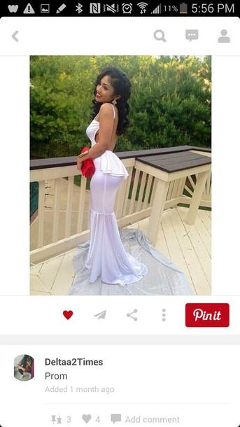 dress prom dress mermaid